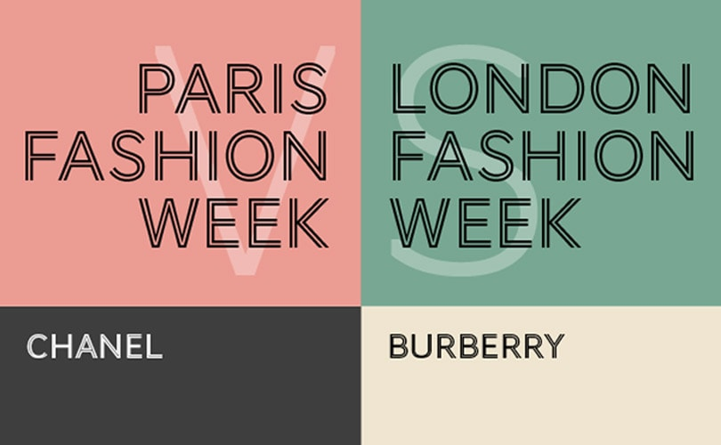 Infographic - La fashion week de Paris VS Londres