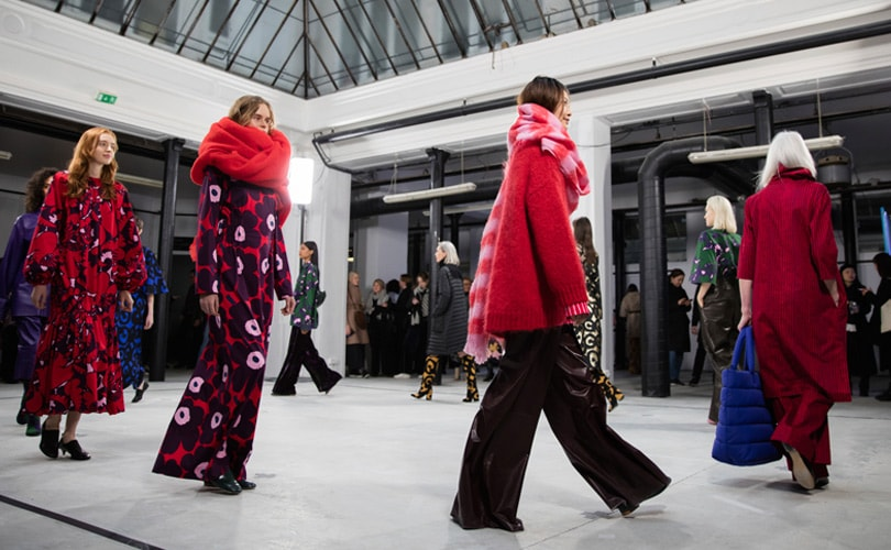La collection Marimekko AH 2018 présentée pendant la fashion week à Paris
