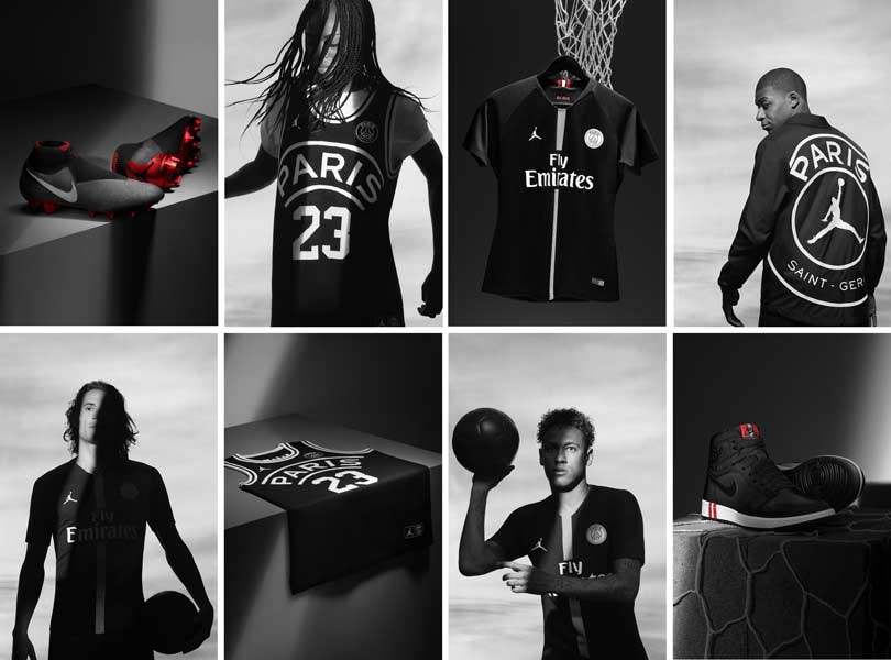 Jordan (Nike) collabore avec le Paris Saint-Germain dans l'univers du foot