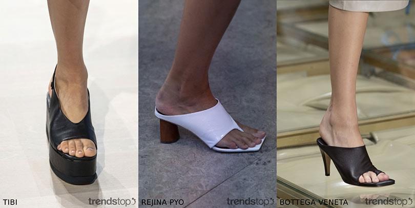 Les tendances chaussures observées sur les podiums de la