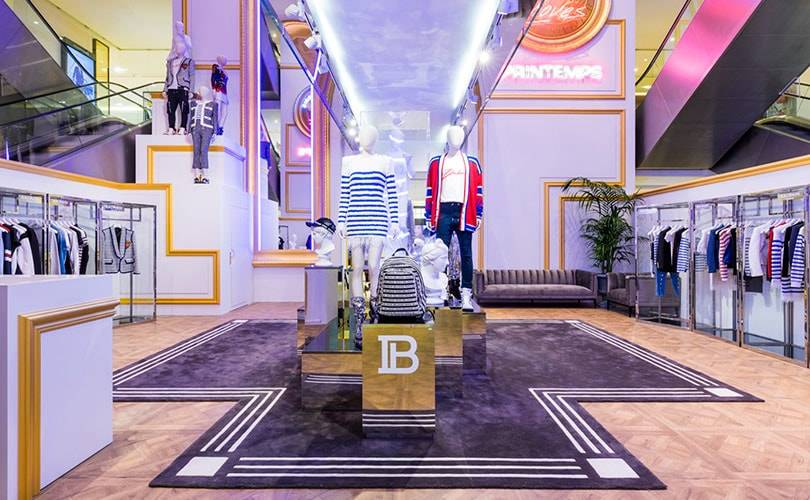 Balmain dévoile un pop-up store au Printemps Haussmann